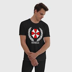 Пижама хлопковая мужская UMBRELLA CORP цвета черный — фото 2