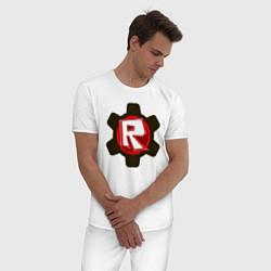 Пижама хлопковая мужская ROBLOX цвета белый — фото 2