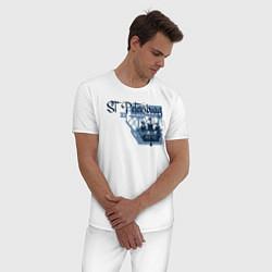 Пижама хлопковая мужская St'Petersburg цвета белый — фото 2