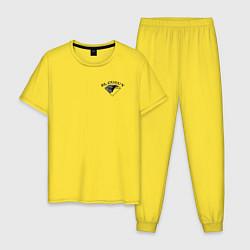 Пижама хлопковая мужская Tony Ferguson крылья на спине цвета желтый — фото 1