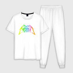 Пижама хлопковая мужская ПОШЛАЯ МОЛЛИ цвета белый — фото 1