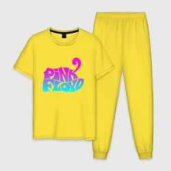 Пижама хлопковая мужская Pink Floyd цвета желтый — фото 1