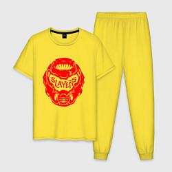 Пижама хлопковая мужская DOOM цвета желтый — фото 1