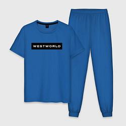 Пижама хлопковая мужская Westworld цвета синий — фото 1