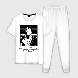 Пижама хлопковая мужская Tony Stark цвета белый — фото 1