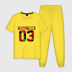 Пижама хлопковая мужская PAYTON MOORMEIER Розы цвета желтый — фото 1