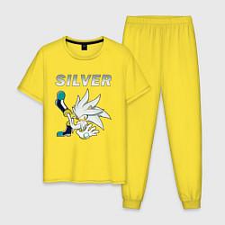 Пижама хлопковая мужская SONIC Silver цвета желтый — фото 1