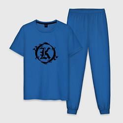 Пижама хлопковая мужская Кукрыниксы спина цвета синий — фото 1