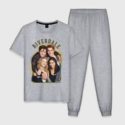 Пижама хлопковая мужская Riverdale heroes цвета меланж — фото 1