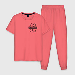 Пижама хлопковая мужская NILETTO цвета коралловый — фото 1