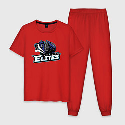 Пижама хлопковая мужская HALO цвета красный — фото 1
