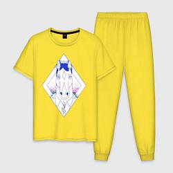 Пижама хлопковая мужская BoJack Horseman цвета желтый — фото 1