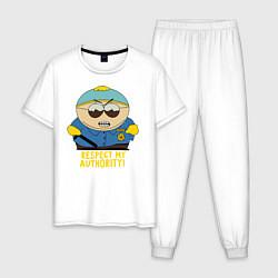 Пижама хлопковая мужская South Park, Эрик Картман цвета белый — фото 1