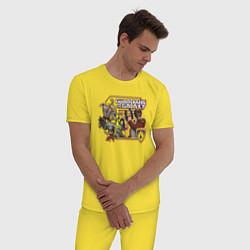 Пижама хлопковая мужская Guardians of the Galaxy цвета желтый — фото 2