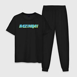 Пижама хлопковая мужская BAZINGA! цвета черный — фото 1