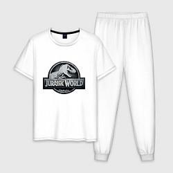 Пижама хлопковая мужская Jurassic World цвета белый — фото 1