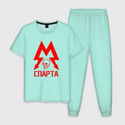 Пижама хлопковая мужская METRO СПАРТА цвета мятный — фото 1