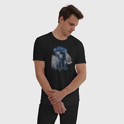 Мужская хлопковая пижама с принтом Гарри Поттер, цвет: черный, артикул: 10218569505937 — фото 2
