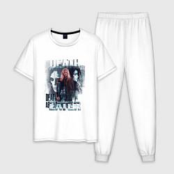 Пижама хлопковая мужская Harry Potter: Death Eater цвета белый — фото 1