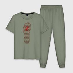 Пижама хлопковая мужская The Flash цвета авокадо — фото 1