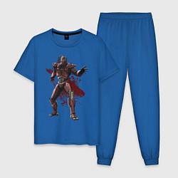 Пижама хлопковая мужская Sektor цвета синий — фото 1
