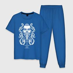 Пижама хлопковая мужская Assassin's Creed Valhalla цвета синий — фото 1