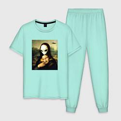 Пижама хлопковая мужская Mona Lisa цвета мятный — фото 1