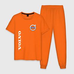 Пижама хлопковая мужская VOLVO цвета оранжевый — фото 1