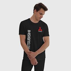 Пижама хлопковая мужская MITSUBISHI цвета черный — фото 2