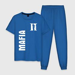 Пижама хлопковая мужская MAFIA II цвета синий — фото 1