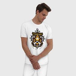 Пижама хлопковая мужская Thousand Sunny цвета белый — фото 2
