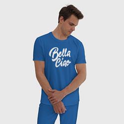 Пижама хлопковая мужская Bella Ciao цвета синий — фото 2