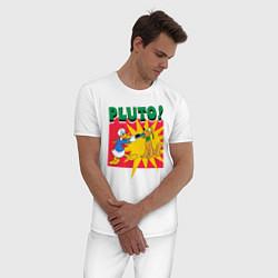 Пижама хлопковая мужская Pluto! цвета белый — фото 2