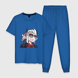 Пижама хлопковая мужская Justice Helltaker Z цвета синий — фото 1
