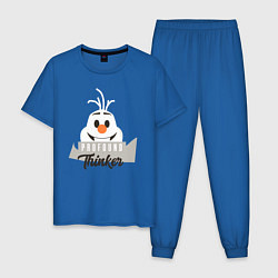 Пижама хлопковая мужская Frofound Thinker цвета синий — фото 1
