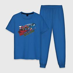 Пижама хлопковая мужская Justice League цвета синий — фото 1