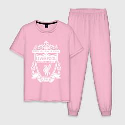 Пижама хлопковая мужская LIVERPOOL ФК цвета светло-розовый — фото 1
