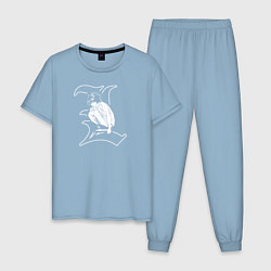 Пижама хлопковая мужская Death Note цвета мягкое небо — фото 1