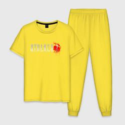Пижама хлопковая мужская Stalker 2 цвета желтый — фото 1