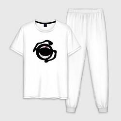 Пижама хлопковая мужская Гомункул прайд цвета белый — фото 1
