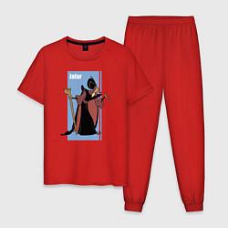 Пижама хлопковая мужская Джафар цвета красный — фото 1