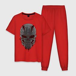 Пижама хлопковая мужская Терминатор цвета красный — фото 1