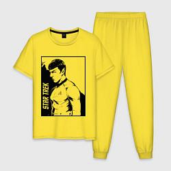 Пижама хлопковая мужская StarTrek Spock Z цвета желтый — фото 1