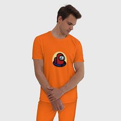 Пижама хлопковая мужская Among Us Череп цвета оранжевый — фото 2