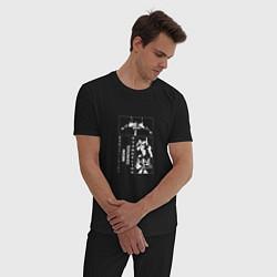 Пижама хлопковая мужская Евангелион цвета черный — фото 2