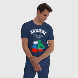 Пижама хлопковая мужская Akhmat Fight Club цвета тёмно-синий — фото 2
