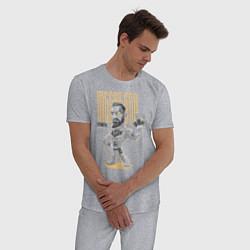 Пижама хлопковая мужская Конор МакГрегор цвета меланж — фото 2