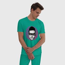 Пижама хлопковая мужская Mr Robot цвета зеленый — фото 2
