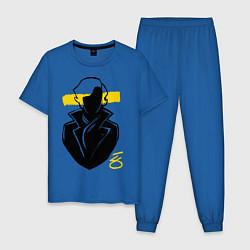 Пижама хлопковая мужская Blind Sherlock цвета синий — фото 1
