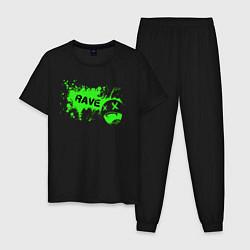 Пижама хлопковая мужская Rave цвета черный — фото 1